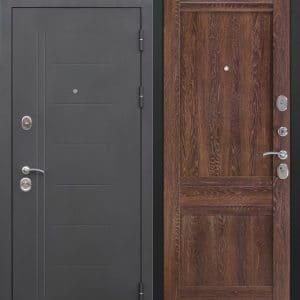 Стальная дверь 10 см Троя Черный муар Орех сиена Царга