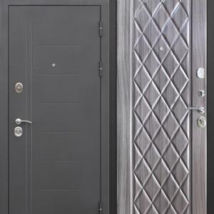 Входная дверь 10 см Троя Чёрный Муар Палисандр темный