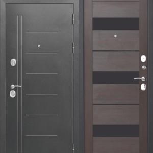 Входная дверь 10 см Троя Серебро Темный Кипарис