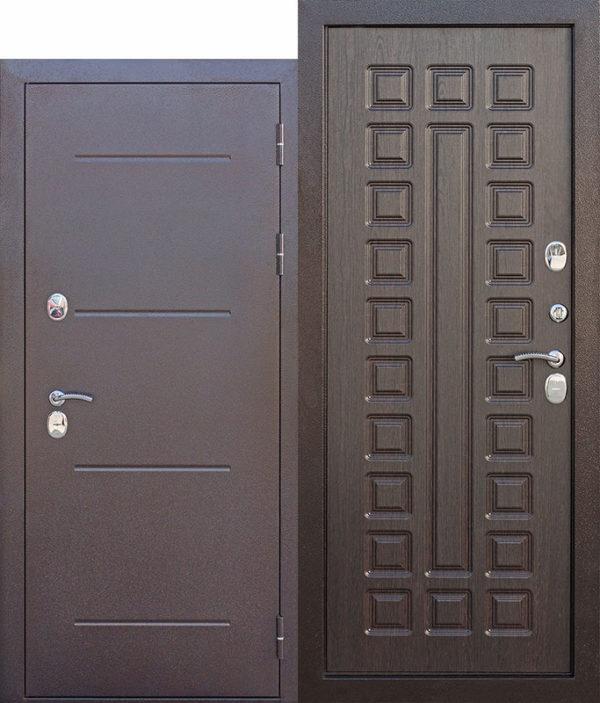 Входная непромерзающая дверь c ТЕРМОРАЗРЫВОМ 11 см Isoterma медный антик Венге