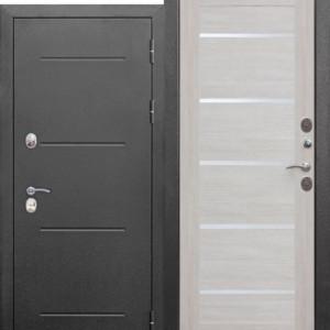 Входная непромерзающая дверь c ТЕРМОРАЗРЫВОМ 11 см Isoterma СЕРЕБРО Лиственница беж