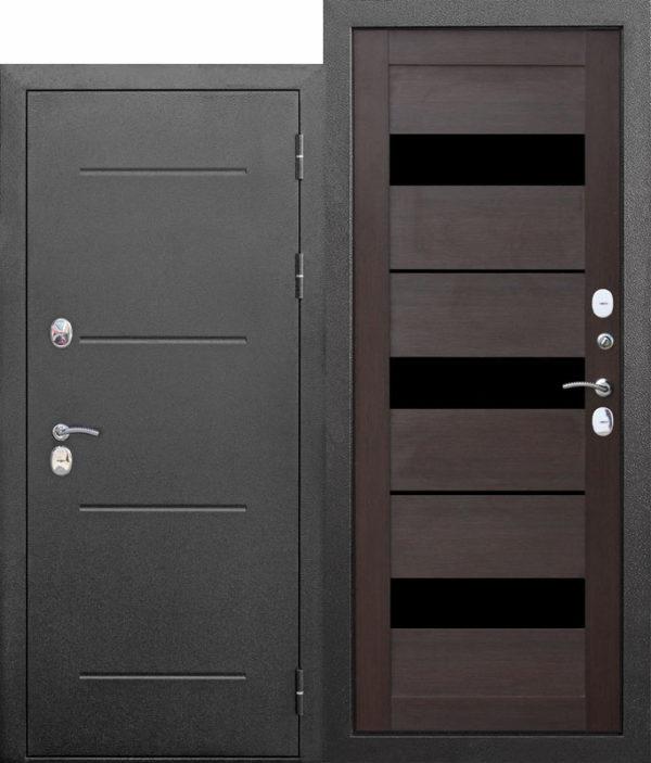 Входная непромерзающая дверь c ТЕРМОРАЗРЫВОМ 11 см Isoterma СЕРЕБРО Темный кипарис