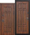 Входная непромерзающая дверь c ТЕРМОРАЗРЫВОМ 13 см Isoterma МДФ/МДФ Грецкий орех