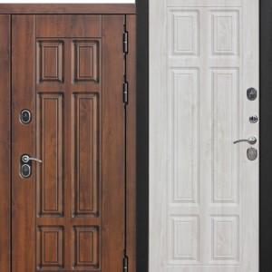 Входная непромерзающая дверь c ТЕРМОРАЗРЫВОМ 13 см Isoterma МДФ/МДФ Сосна белая