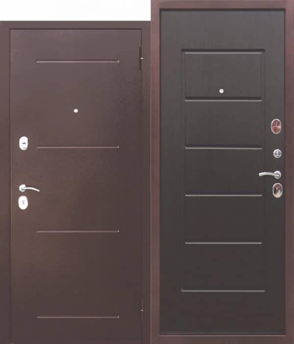 Входная металлическая дверь 7,5 Гарда Антик-Венге
