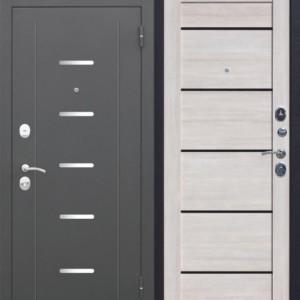 Входная металлическая дверь 7,5 Гарда МУАР Царга Лиственница мокко