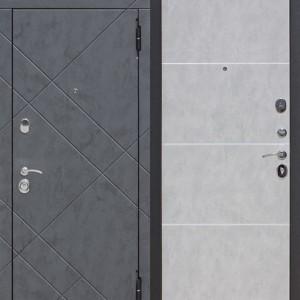 Входная дверь 9 см БРУКЛИН Бетон графит / Бетон пепельный