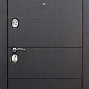Входная металлическая дверь 10,5 см Чикаго Царга Лиственница беж с МДФ панелями