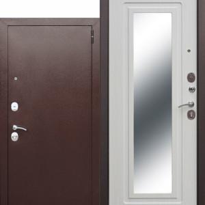 Входная металлическая дверь с противоударным зеркалом (зеркало maxi)