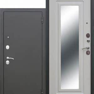 Входная стальная дверь Царское зеркало Муар Белый ясень