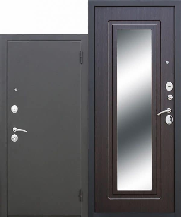 Входная стальная дверь Царское зеркало Муар Венге