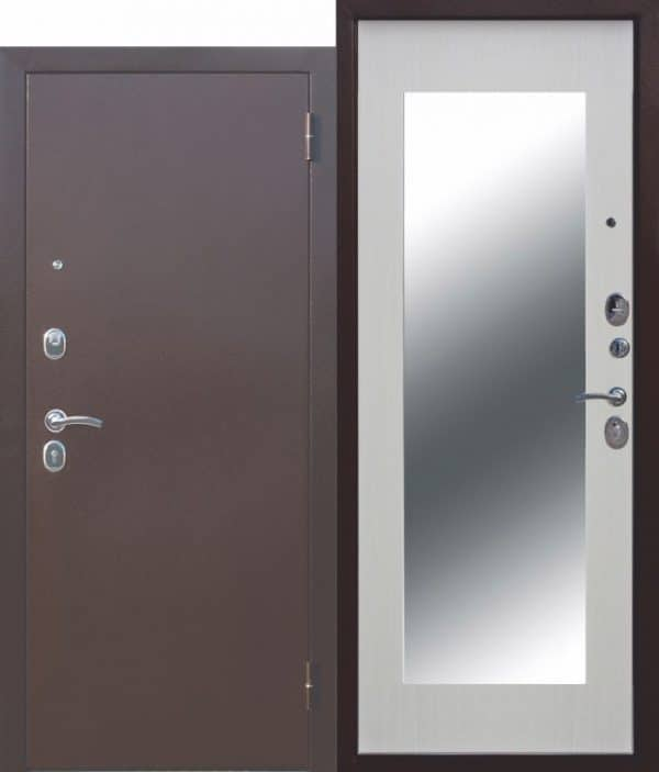 Металлическая дверь Царское зеркало МАКСИ Белый ясень