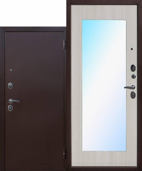 Входная металлическая дверь Макс широкое зеркало