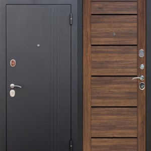 Входная дверь 7,5 см НЬЮ-ЙОРК Царга Дуб санремо темный/светлый