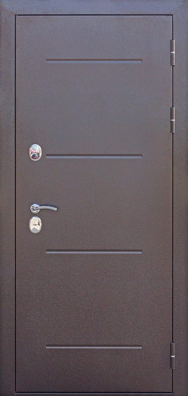 Входная непромерзающая дверь c ТЕРМОРАЗРЫВОМ 11 см Isoterma медный антик Лиственница мокко