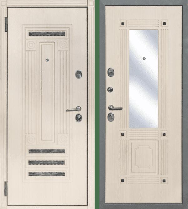 Дверь Премиум №22 Senator WHITE CREAM с зеркалом