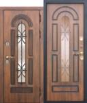 Входная непромерзающая дверь c ТЕРМОРАЗРЫВОМ 13 см VITRA Винорит Патина (Израиль)