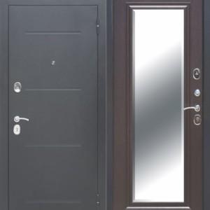 Металлическая дверь 7,5 см GARDA Серебро Зеркало Фацет ВЕНГЕ